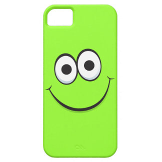 Smiling green happy cartoon smiley face funny iPhone SE/5/5s case