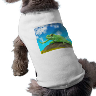 Smiling Green Lizard on a Beautiful Bright Day Shirt