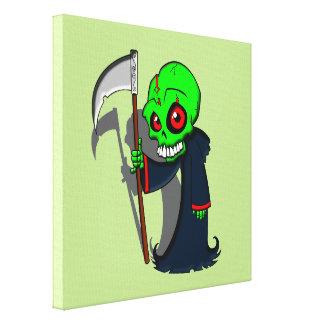 Smiling Grim Reaper Illustration Creepy Cool Canvas Print