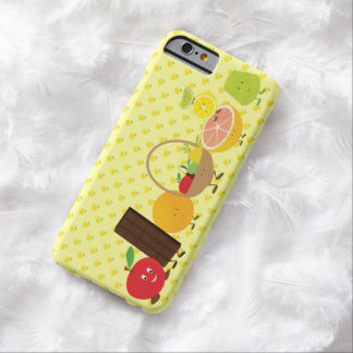 Smiling group of food characters barely there iPhone 6 case