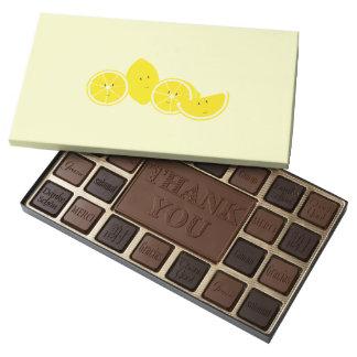 Smiling group of lemons 45 piece box of chocolates