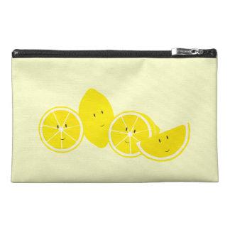 Smiling group of lemons travel accessory bag