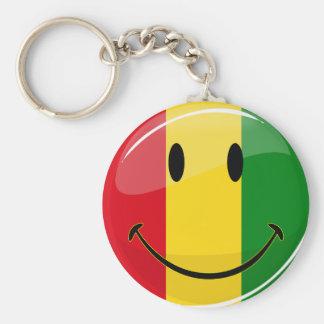 Smiling Guinea Flag Basic Round Button Keychain