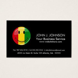 Smiling Guinea Flag Business Card
