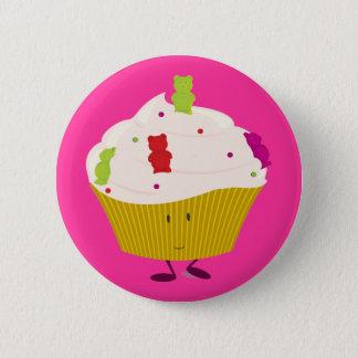 Smiling gummy bear cupcake button