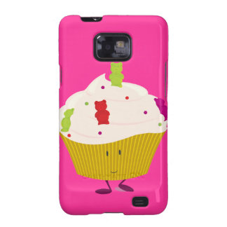 Smiling gummy bear cupcake galaxy SII covers