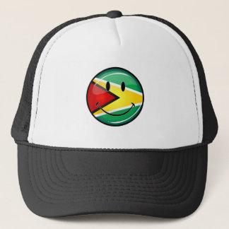 Smiling Guyanese Flag Trucker Hat