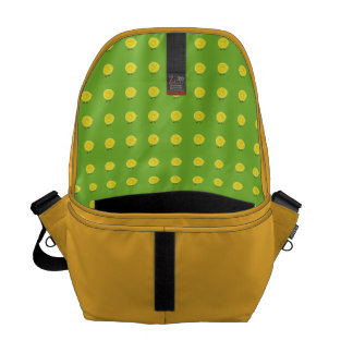 Smiling half lemon courier bag