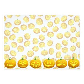 Smiling Halloween Jack-o-Lantern 5x7 Paper Invitation Card