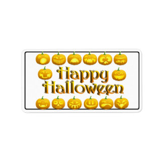 Smiling Halloween Jack-o-Lantern Address Label