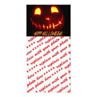 Smiling Halloween Jack-o-Lantern Card