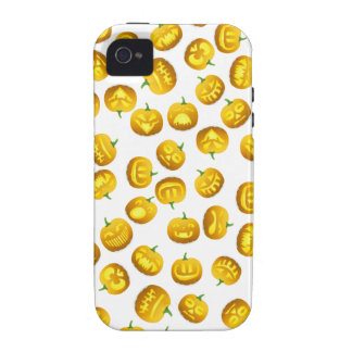 Smiling Halloween Jack-o-Lantern Case For The iPhone 4