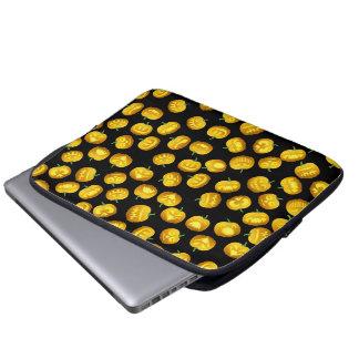 Smiling Halloween Jack-o-Lantern Laptop Sleeves