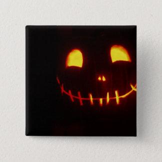 Smiling Halloween Jack-o-Lantern Pinback Button