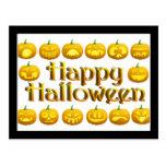 Smiling Halloween Jack-o-Lantern Post Card