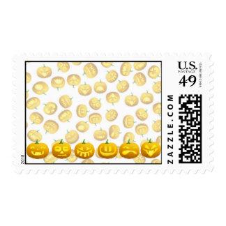 Smiling Halloween Jack-o-Lantern Postage Stamp