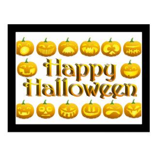Smiling Halloween Jack-o-Lantern Postcard
