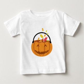 Smiling Halloween pumpkin filling with candy Baby T-Shirt