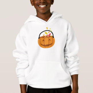 Smiling Halloween pumpkin filling with candy Hoodie
