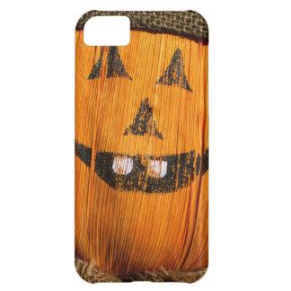 Smiling Halloween Pumpkin Scarecrow iPhone 5C Cover