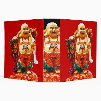 Smiling Happiness Buddha 3 Ring Binder