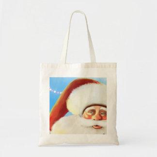 smiling happy cartoon santa Bag