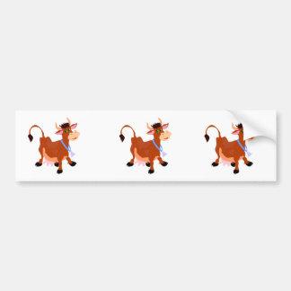 smiling happy cow bumper sticker