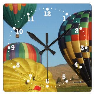 Smiling, Happy Hot Air Balloons Clock