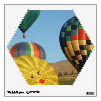 Smiling, Happy Hot Air Balloons Wall Decal