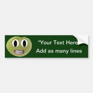 Smiling Happy Lima Bean Custom Bumper Sticker