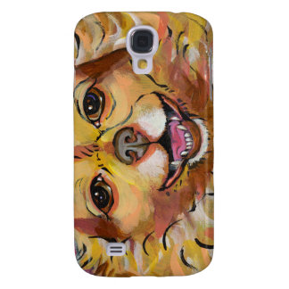 Smiling happy little dog fun art chihuahua chi pom galaxy s4 cover