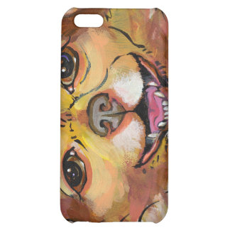 Smiling happy little dog fun art chihuahua chi pom iPhone 5C case