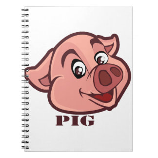 Smiling Happy Pig Face Notebook