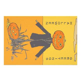 Smiling Happy Scarecrow Jack O' Lantern Photo Print