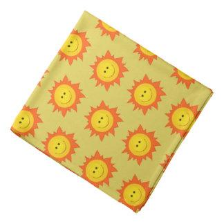 Smiling Happy Sun Pattern Bandana