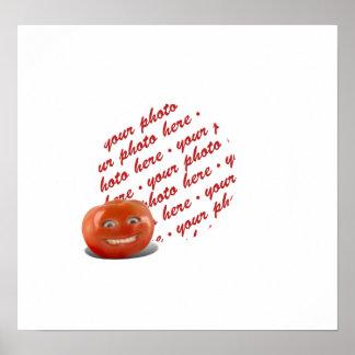 Smiling Happy Tomato Photo Frame Posters