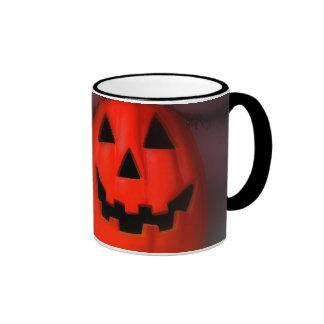Smiling,  HappyHalloween Ringer Coffee Mug