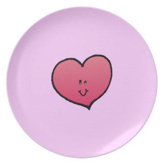 Smiling Heart Melamine Plate
