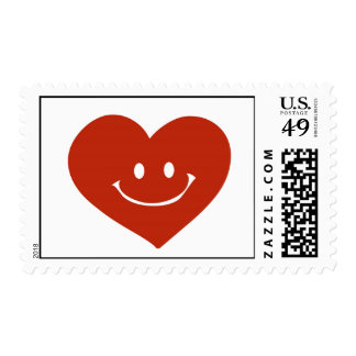 Smiling heart Postage