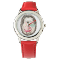 Smiling Hedgehog with Apple Personalized Watch