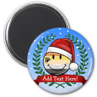 Smiling Holiday Gay Bear Pride Flag 2 Inch Round Magnet