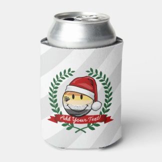 Smiling Holiday Gay Bear Pride Flag Can Cooler