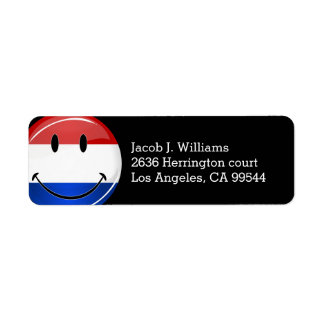 Smiling Holland Netherlands Flag Label