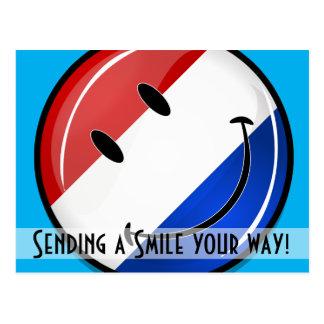 Smiling Holland Netherlands Flag Postcard