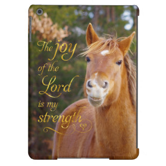 Smiling Horse Bible Quote iPad Air Cases