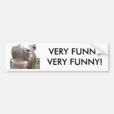 Smiling Horse Bumper Sticker Very Funny! at Zazzle