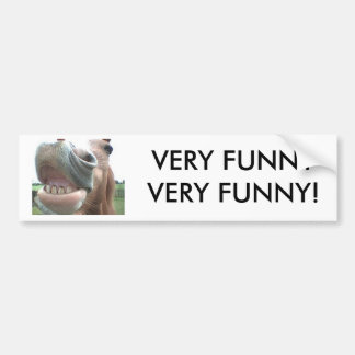Smiling Horse Bumper Sticker VERY FUNNY! Car Bumper Sticker