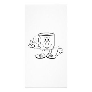 Smiling Hot Cup of Coffee Photo Card