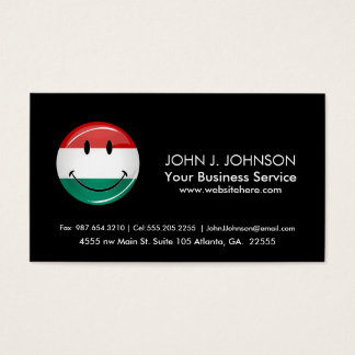 Smiling Hungarian Flag Business Card