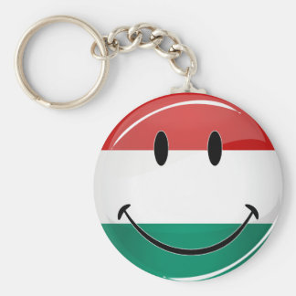 Smiling Hungarian Flag Keychain